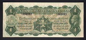 Australia-R-23b-1923-1-Pound-Miller-Collins-George-V-Portrait-Fine