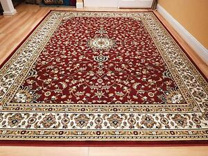 Red-Traditional-Oriental-Medallion-8x10-Area-Rug-Persian-Carpet-2x3-Mat-5x7-Rugs