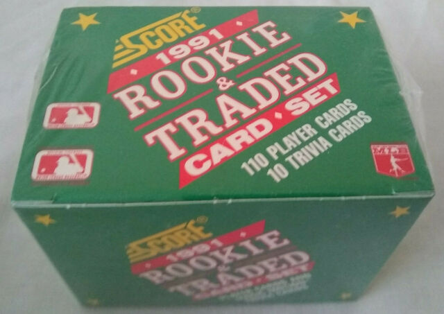 1991 Score Rookie & Traded 110 Card Factory Sealed Box Set