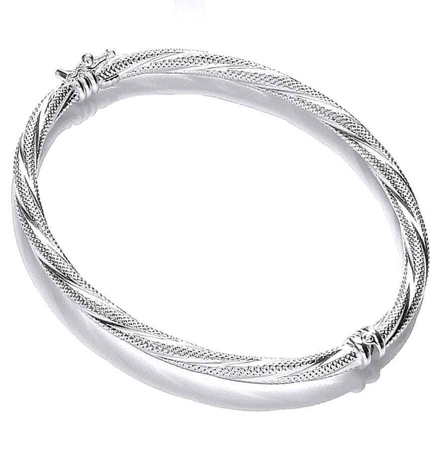 Bracciale in SLAVE solido argentoo donna con con con motivo a cerniera Twist argentoo Sterling 105cc0
