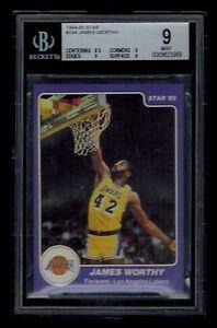 1984-85-Star-JAMES-WORTHY-card-184-BGS-graded-9