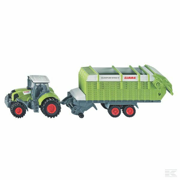 Siku Claas Axion 850 With Hay Loader Loader Loader 1 87 Scale Model Toy Present Gift 9d523d