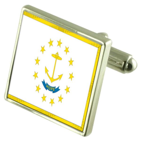 100% QualitäT Rhode Island Flagge Manschettenknöpfe Select Gifts Beutel