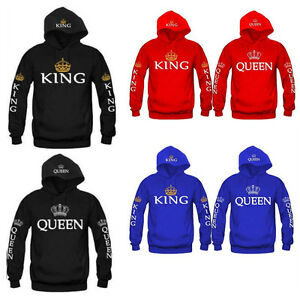 King-amp-Queen-Matching-Couple-Hoodies-Love-Matching-His-and-Her-Fleece-shirts-Tops