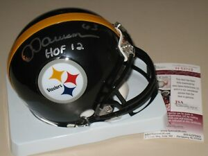 368fab0718e Image is loading Dermontti-Dawson-63-signed-Pittsburgh-Steelers-HOF-NFL-