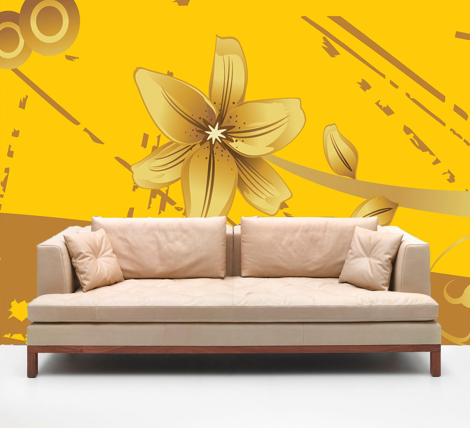 3D Gelbe Kreative Blaume 743 Tapete Wandgemälde Tapete Tapeten Bild Familie DE
