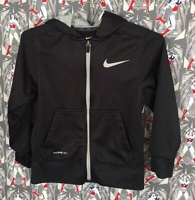 Therma Size Hoodie Kids Hooded Sweatshirt Closure Full Zip SmalleBay Black NIKE Fit kOiuPXTZ