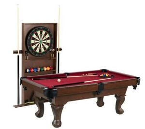 """Billiards Ball Game And Claw Leg 90"""" Pool Table Cue Rack Dartboard NEW"""