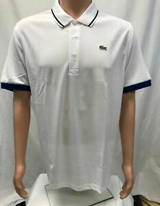 NWT-Lacoste-Sports-Men-039-s-Ultra-Dry-Polyster-Polo-with-ribbed-collar-Sizes-5-8