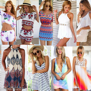UK Womens Playsuit Celeb Shorts 2016 Ladies Summer Holiday Dress ...