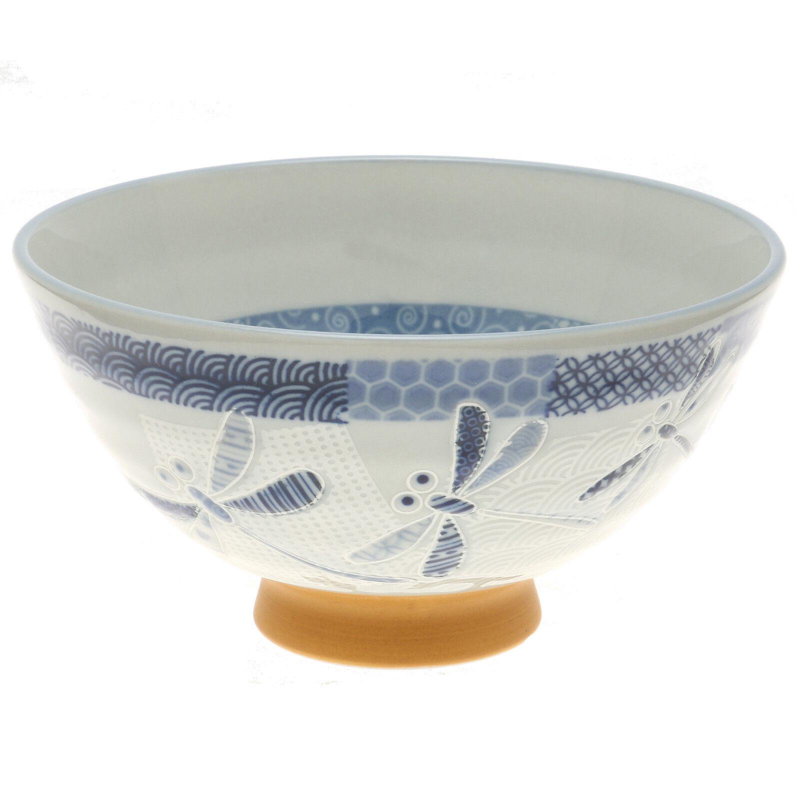 10x japonais 4  Bleu à l'aquarelle fleurs bols à riz  130-620