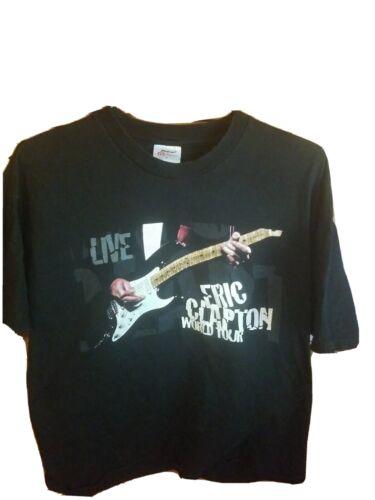 George Harrison Jimi Hendrix Bob Dylan Vintage 1998 Eric Clapton World Tour T Shirt size XL W 23.5 x L 30