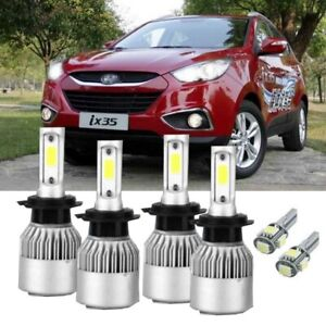 For Hyundai Getz TB 100w Super White Xenon HID High//Low//Side Headlight Bulbs Set