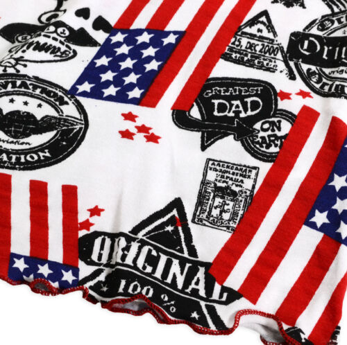 Girls Stars And Stripes Short Sleeved USA T-Shirt New Kids Tops 2 3 4 5 6 Years