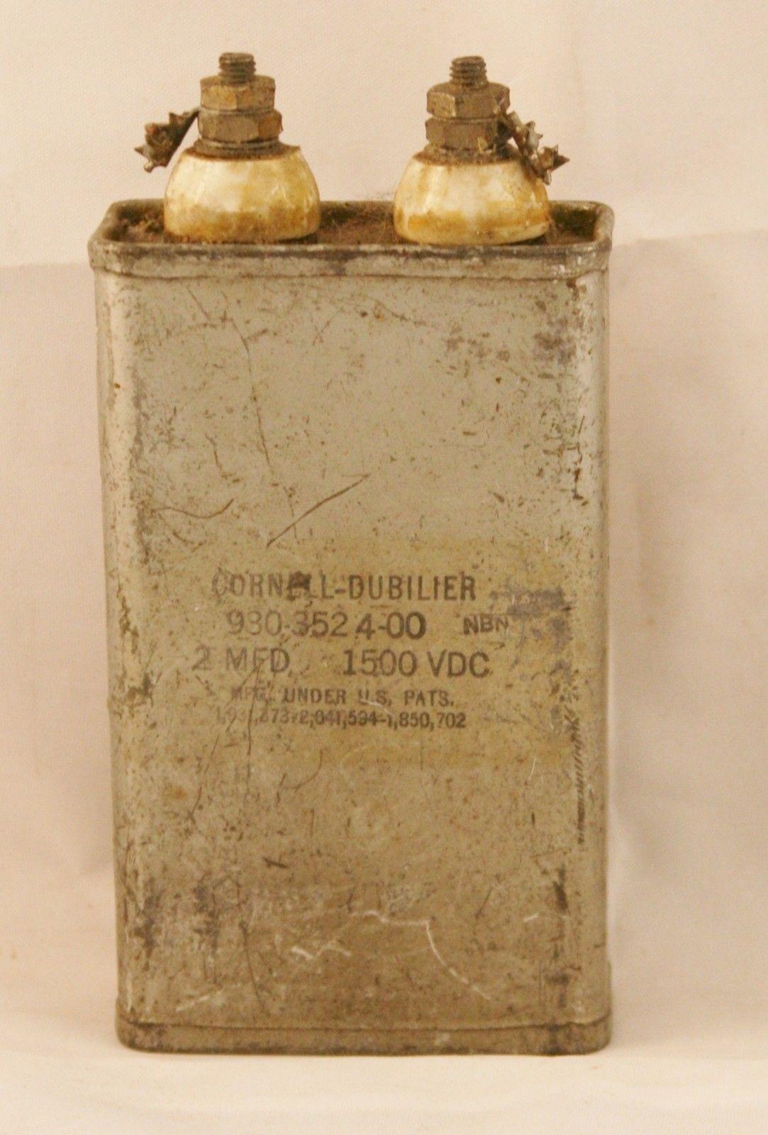 Großer Cornell-Dubilier 2uf 2 Mfd 1500 Vdc 1.5 Kw Pio Kondensator