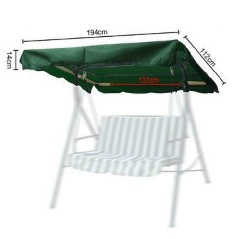 Swing Canopy Replacement Seat Garden Hammock 2 /& 3 Seater Sizes Spare Top Cover