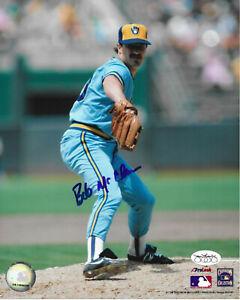 BOB McCLURE Autographed Signed 8 x 10 Photo Milwaukee Brewers Baseball COA