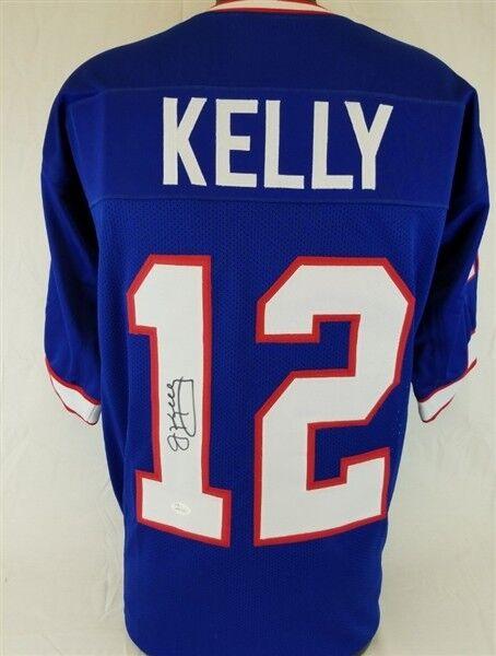 best website c54d0 da39b Jim Kelly Signed Buffalo Bills Blue Jersey (JSA COA) 4xSuper Bowl  Quarterback