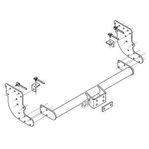 Brink Gancho de remolque para Citroen C4 Picasso 2013 en adelante-Cuello de Cisne Barra de remolque