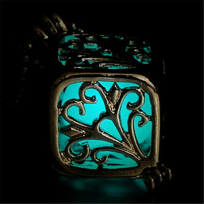 Magic Steampunk Pretty Round Fairy Locket Glow In The Dark Pendant Necklace Gift