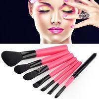 7Pcs Pro Makeup Cosmetic Brush Set Eyeshadow Powder Eye Face Brushes Kit Tool