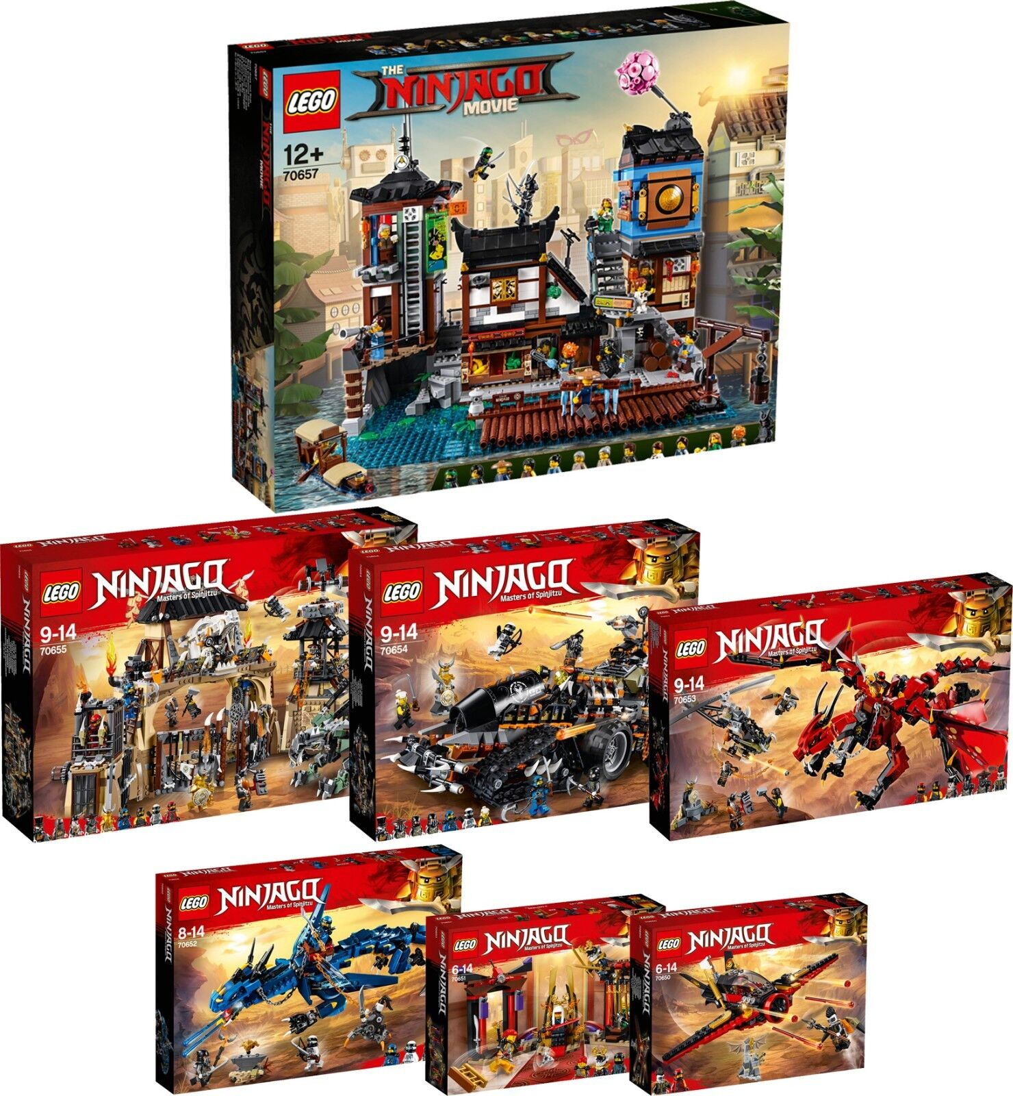 Lego Ninjago 70657 70655 70654 70653 70652 70651 70650 Dragon Super Set n6 18