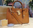 NWT Michael Kors HAMILTON E/W Satchel Tote Saffiano Leather Bag In LUGGAGE $298