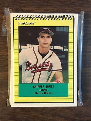1991 Chipper Jones Rc Pro Cards Macon Braves Complete Minor League Set D4018607 Ebay