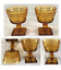 thumbnail 1 - Vintage Indiana Glass  Sundae Dessert Cups Amber Colony PARK LANE 3/4-Cup 2-PC