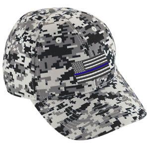 ee1ba0377b3b03 Image is loading Blue-Line-American-Flag-Police-Law-Enforcement-Digital-
