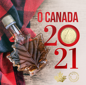 2021 'O Canada' Gift Card Set of 5 coins SPECIAL $1 COIN ONLY COMES IN THIS SET