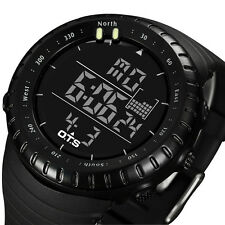 Men Fashion Military Stainless Steel Analog Date Sport Wrist Watch With Box Gift