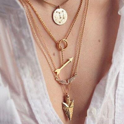 Classic Women Pendant Chain Choker Chunky Statement Bib Necklace Jewelry Charm