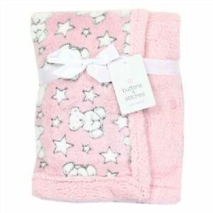 Nwt Baby Girl Teddy Bear Soft Plush Blanket 30 Quot X 40 Quot Ebay