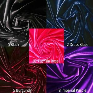 "SUPREME VELVET SOFT FABRIC DRESS DANCE CLOTHING 4-WAY STRETCH SPANDEX VELOUR 60/"""