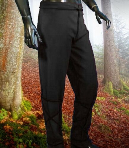 Gothic Medioevo Gugel cappuccio Pantaloni Completo veste verde M L XL XXL camicia