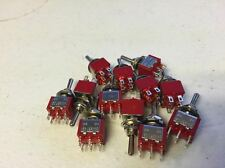 10x DPDT Momentary-Off-Momentary ON/OFF/ON Toggle Switches 5A 1/4 (on)off(on) a5