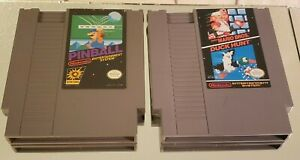 Super-Mario-Bros-Duck-Hunt-and-Pinball-NES-Nintendo-Lot-of-2