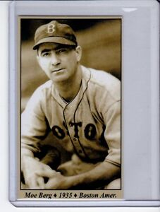 Details About Morris Moe Berg 35 Boston Red Sox Tobacco Road Series 26