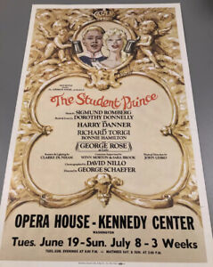 The Student Prince Kennedy center Broadway Window Card 14x22 Poster