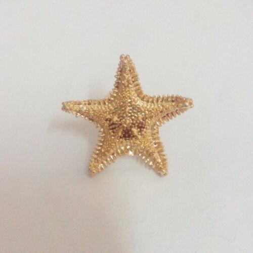 Vintage Estilo Moderno De Moda Oro Aleación Mar Animal estrellas de mar Anillo Abierto Gran Venta