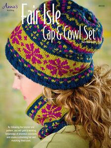 Fair Isle Cap Amp Cowl Knit Pattern Knitting Tutorial Hat