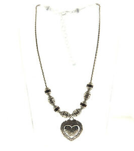 Brighton-Red-Leather-Heart-Pendant-Reversible-Necklace-Silver