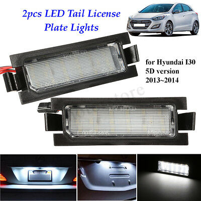 2x18LED License Number Plate Light Lamp For Hyundai I30 5D Hatchback Wagon