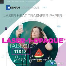 Laser 1 Opaque Heat Transfer Paper 11x17 25 Sheets Free Pressing Sheet 1