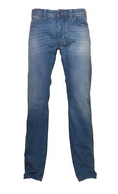 100% Vero Diesel Stretch Jeans Larkee 0850v Blu Chiaro Colori Attenuati Tg. 28/32 Nuovo-mostra Il Titolo Originale
