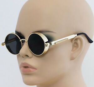 05a1c1afb3e Image is loading Round-Metal-Sunglasses-Steampunk-Men-Women-Fashion-Glasses-