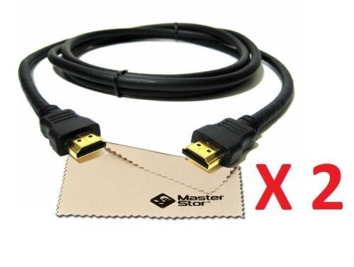 2X 1.5 METRE Premium GOLD 1080P HDMI CABLE LEAD SMART HD TV HDTV 3D 1.5m