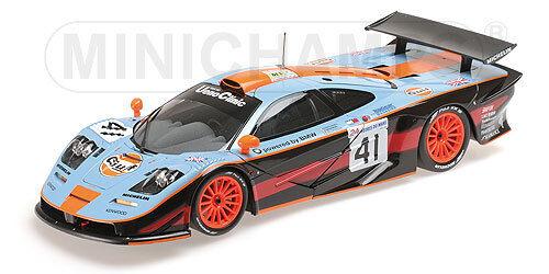 Minichamps 530133741 - McLaren F1 GTR 1997 24 Heures du Mans N°41 Gulf Davi 1 18