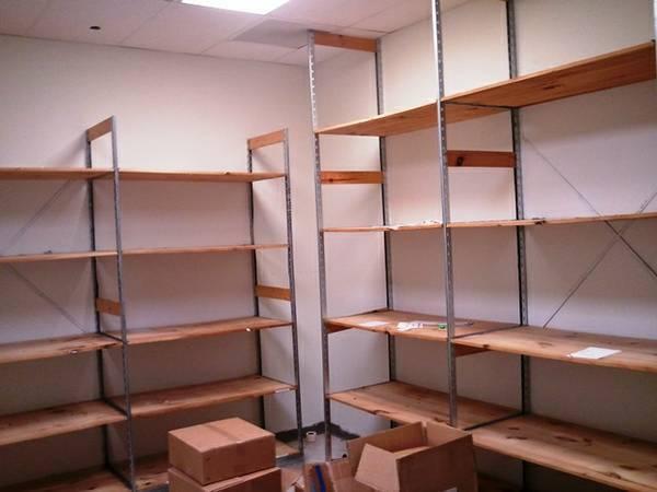 Backroom Shelving Retail Wood Storage Shelves Fixtures LIQUIDATION   EBay